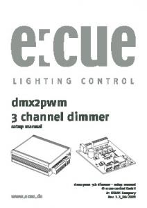 dmx2pwm 3 channel dimmer setup manual