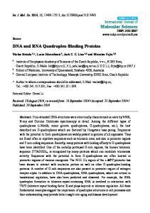 DNA and RNA Quadruplex-Binding Proteins