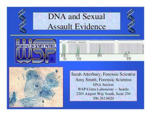 DNA and Sexual Assault Evidence
