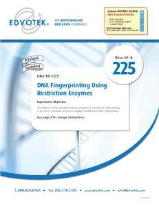 DNA Fingerprinting Using Restriction Enzymes