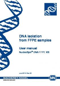 DNA isolation from FFPE samples
