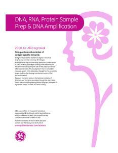 DNA, RNA, Protein Sample Prep & DNA Amplification