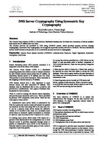 DNS Server Cryptography Using Symmetric Key Cryptography