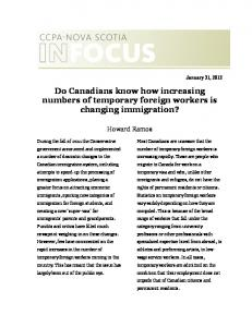 Do Canadians know how increasing numbers of temporary foreign workers is changing immigration?