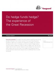 Do hedge funds hedge? The experience of the Great Recession