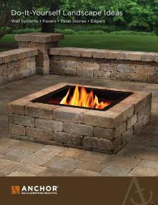 Do-It-Yourself Landscape Ideas. Wall Systems Pavers Patio Stones Edgers