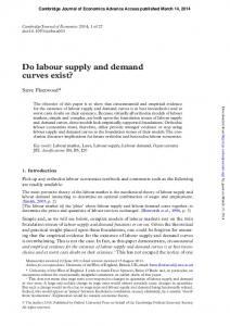 Do labour supply and demand curves exist?