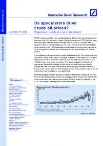 Do speculators drive crude oil prices?