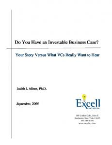Do You Have an Investable Business Case?