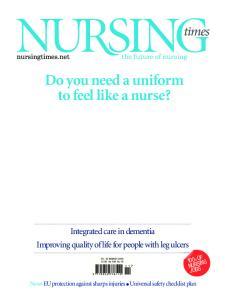 Do you need a uniform to feel like a nurse?