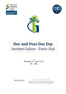 Doc and Post-Doc Day Institut Galien - Paris-Sud