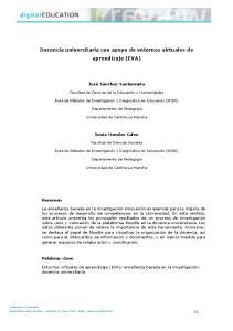 Docencia universitaria con apoyo de entornos virtuales de aprendizaje (EVA)