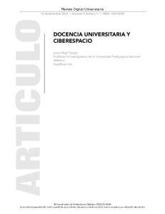 DOCENCIA UNIVERSITARIA Y CIBERESPACIO