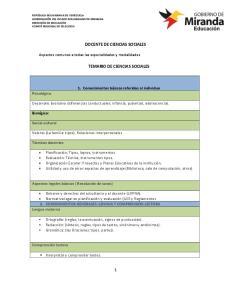 DOCENTE DE CIENCIAS SOCIALES TEMARIO DE CIENCIAS SOCIALES
