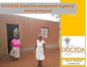 DOCKDA Rural Development Agency Annual Report
