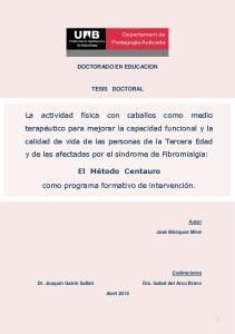 DOCTORADO EN EDUCACION TESIS DOCTORAL