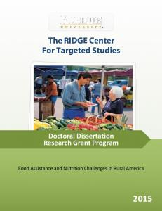 Doctoral Dissertation Research Grant Program