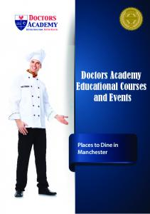 Doctors Academy Educational Courses and Events