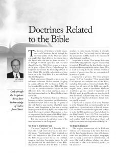 Doctrines Related to the Bible