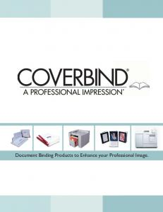Document Binding Products to Enhance your Professional Image