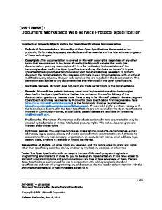 Document Workspace Web Service Protocol Specification