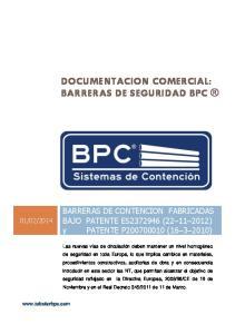 DOCUMENTACION COMERCIAL: BARRERAS DE SEGURIDAD BPC
