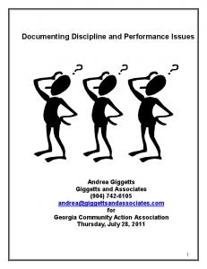 Documenting Discipline and Performance Issues