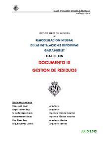 DOCUMENTO IX GESTION DE RESIDUOS