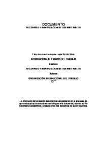 DOCUMENTO RECORRIDO Y MANIPULACION DE LOS MATERIALES