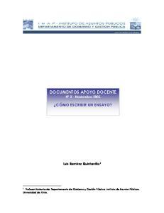 DOCUMENTOS APOYO DOCENTE N 2 - Noviembre 2005