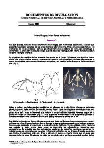 DOCUMENTOS DE DIVULGACION MUSEO NACIONAL DE HISTORIA NATURAL Y ANTROPOLOGIA