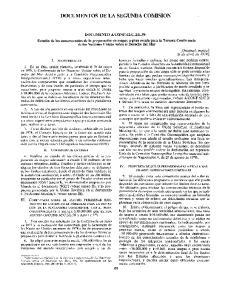 DOCUMENTOS DE LA SEGUNDA COMISION
