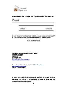 Documentos de Trabajo del Departamento de Derecho