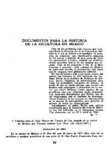 DOCUMENTOS PARA LA HISTORIA DE LA ESCULTURA EN MEXICO