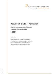 DocuWatch Digitales Fernsehen