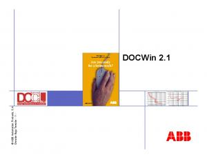 DOCWin 2.1 Are you ready for a better work? Are you ready for a better work?