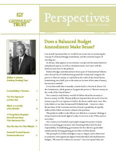 Does a Balanced Budget Amendment Make Sense?