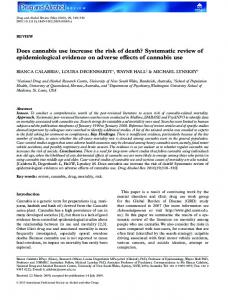 Does cannabis use increase the risk of death? Systematic review of epidemiological evidence on adverse effects of cannabis usedar_