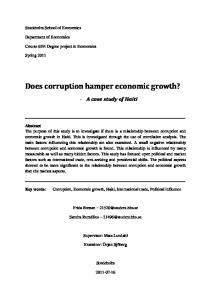 Does corruption hamper economic growth?