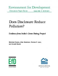 Does Disclosure Reduce Pollution?
