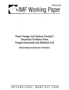Does Foreign Aid Reduce Poverty? Empirical Evidence from Nongovernmental and Bilateral Aid