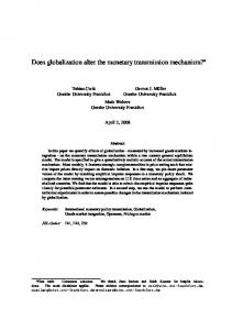 Does globalization alter the monetary transmission mechanism?