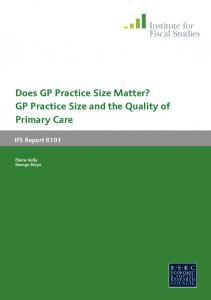Does GP Practice Size Matter? GP Practice Size and the Quality of Primary Care