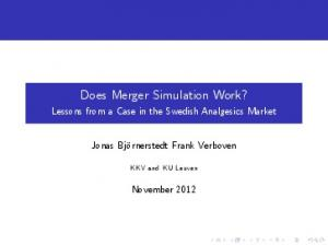 Does Merger Simulation Work?