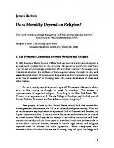 Does Morality Depend on Religion?
