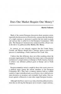 Does One Market Require One Money?