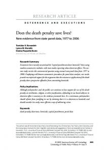 Does the death penalty save lives?
