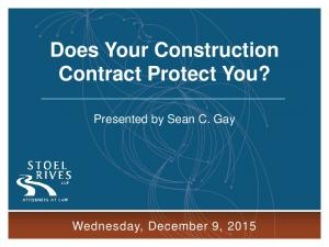 Does Your Construction Contract Protect You?