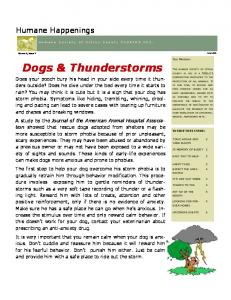 Dogs & Thunderstorms. Humane Happenings