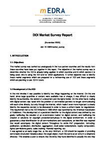 DOI Market Survey Report